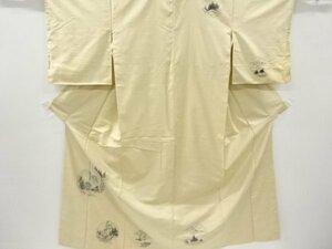 4734516: アンティーク 風景模様手織り紬着物