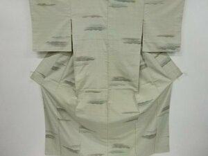 4740749: アンティーク 変わり横段織り出し手織り紬単衣着物