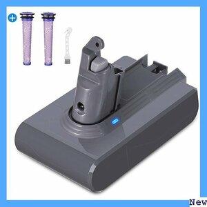 【送料無料】 BA 掃除機交換用バッテリー 互換用ダイソン掃除機バッテリーV6 回路搭載 大容量 フィルター2本 3500mA 1