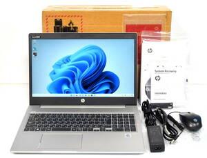 美品☆HP ProBook 450 G7 i5-10210U 1.6(4.2)GHz 8CPU/SSD 256GB+HDD 500GB/FHD 1920x1080/無線/Bt/カメラ/指紋/Office2019/最新W11☆1012