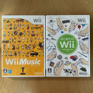 Wiiソフト はじめてのwii &wiiミュージック2本セット