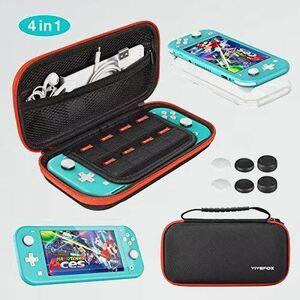 新品 未使用 9-CC 親指キャップ*6 Lite ケ-ス 任天堂スイッチライト 旅行用 キャリングセット収納バッグ ケ-ス 持ち運び防塵