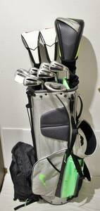 ▼ NIKE ゴルフセット ▼ 豪華ナイキ 自分好みに調整可能な高性能ドライバー等 本格派セット 初心者の方からOK 送料無料