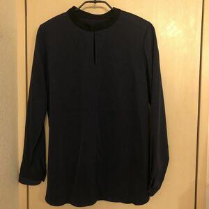美品 Beams ビームス トップス サイズ38 ネイビー 襟と袖口がブラックで素敵です!