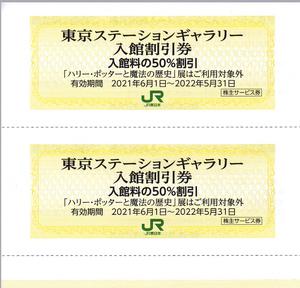 ★東京ステーションギャラリー 入館割引券*50%割引2名分*2022.5.31迄*送料63円~★