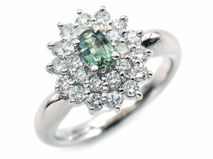 Jewelry Maki 0.43ct Natural Alexandring 11.5 PT850 New Finished Total 0.71ct Natural Diamond Oval Cut Platinum Used Free Shipping