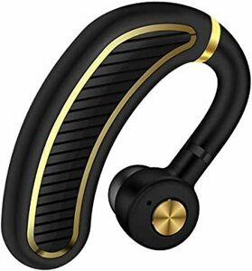 WFブラックゴールド 【2020最新進化版】BluetoothワイヤレスMD-1Dイヤホン 日本語音声ヘッドセットV4.1片耳