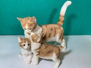 ☆訳あり☆英国☆シェラット& シンプソン☆親子猫ちゃん(猫の置物) 3878