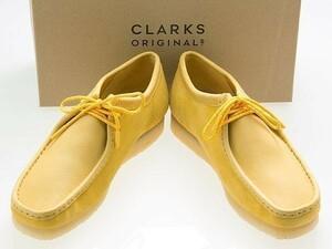 新品/CLARKS ORIGINALS/クラークス オリジナルズ/WALLABEE/ワラビー/YELLOW SUEDE/黄色/イエロー コンビ スエード レザー/26154742/27.5cm