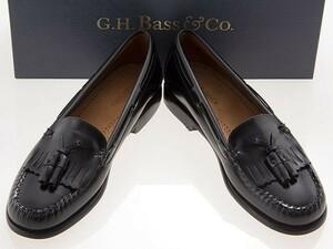 新品/G.H.BASS/ジーエイチバス/WOMEN WASHINGTON/ウィメンズ ワシントン/タッセルローファー/BLACK/ブラック/黒/ワイズM/71-12034/23.5cm