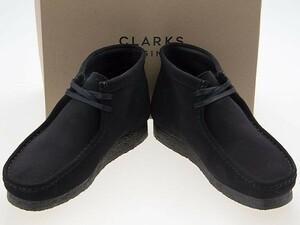 新品/CLARKS ORIGINALS/クラークス オリジナルズ/WALLABEE BOOT/ワラビー ブーツ/BLACK SUEDE/ブラック スエード/黒/26155517/27.0cm