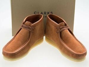新品/CLARKS ORIGINALS/クラークス オリジナルズ/WALLABEE BOOT/ワラビー ブーツ/TAN HAIRY SUEDE/タン ヘアリー スエード/26154818/25.5cm
