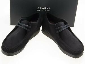 新品/CLARKS ORIGINALS/クラークス オリジナルズ/WALLABEE/ワラビー/BLACK SUEDE/ブラック スエード/黒/26155519/27.5cm