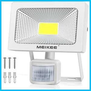 MEIKEE センサーライト 人感 30w LEDフラッドライト 6500K 3400LM PIR屋外センサー投光器 防水照明 駐車場 玄関灯 倉庫 町内の防犯灯
