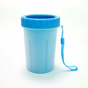 【vaps_7】ペット用足洗いカップ 《ブルー》 《Mサイズ》 足洗いカップ ブラシカップ クリーナー 犬 猫 送込