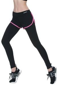 【vaps_6】一体型 スポーツレギンス 《レッド》 《L》 ヨガウェア ロングタイツ トレーニング タイツ フィットネス ランニング 送込