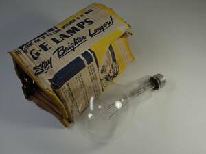 古い 大きい電球 USA 元箱入 アンティーク