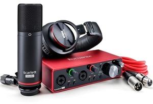 ■新品 送料無料 Focusrite フォーカスライト Scarlett 2i2 3rd Gen Studio Pack オーディオインターフェース コンデンサーマイク ヘッドホ