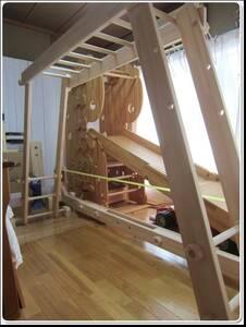 ★りとるとっぽ★室内・うんてい・ブレキエーション・懸垂・ぶら下がり・滑り台・誕生日・ギフト・幼児教育・体力向上・登り棒・手作り木製