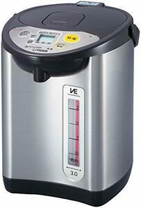 3L 電気ポット 省スチーム 節電タイマー VE 保温 とく子さん ブラウン PIL-A300-T