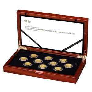 イギリス ロイヤルミント 2021年 エリザベス2世 クイーンズビースト 英国 25ポンド 金貨 10枚 セット NGC PF70【最高鑑定】