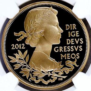 イギリス 2012年 エリザベス女王即位60周年記念 英国 5ポンド 金貨 プルーフ NGC PF70UC【最高鑑定】