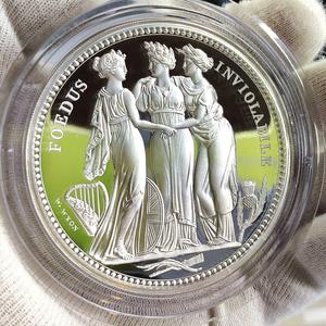 イギリス 2020年 ロイヤルミント スリーグレーセス 三美神 英国 10ポンド 10オンス 銀貨【COA、解説書、箱付き】