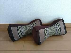 ▲▽【ハンドメイド】アジアン柄 クッション枕2個セットA△▼