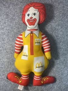 1980s マクドナルド ドナルド 37cm ぬいぐるみ 人形 ピロードール 枕 ビンテージ