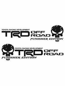 TRDオフロード ドクロ カッティングステッカー 左右セット ランクル プラド RAV4 タンドラ タコマ FJクルーザー 四駆 4WD クロカン アメ車