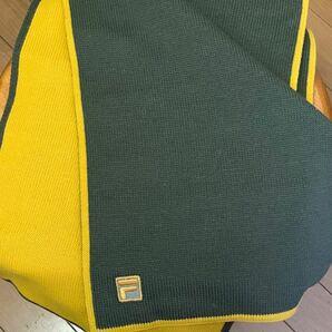 マフラー (緑×黄色系)