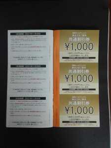 西武ホールディングス 株主優待 共通割引券 ¥1000×20枚
