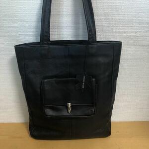 中澤鞄 レザー トートバッグ ブラック 美品