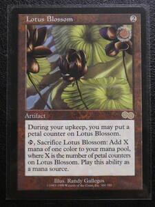 【送料無料】『水蓮の花/Lotus Blossom』英語版/MTG ウルザズ・サーガ ◎状態:新品未使用品◎