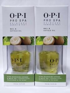 2 x OPI プロ スパ ネイル キューティクル オイル 14.8 ml Pro Spa Nail & Cuticle Oil