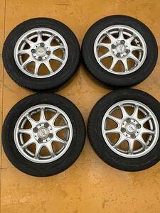 155/65R13 TOYOナノエナジー3 20年製バリ溝 アルミホイール&タイヤ4本セット 軽自動車