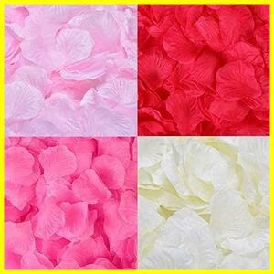 花びら 2000枚セット フラワーシャワー 桜吹雪 薔薇 造花 プロポーズ 飾り 結婚式 ウエディング 2次会 誕生日 お祝い 演出にローズ