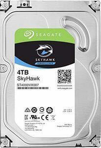 Seagate シーゲイト 内蔵ハードディスク SkyHawk 3.5 インチ HDD 4TB (SATA(中古 良品)