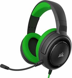 Corsair ゲーミングヘッドセット HS35 STEREO Stereo Gaming Headset -Green- (PC PS5 PS4 Xbox series X/S Switch) SP(中古良品)