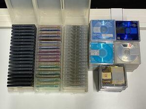 ミニディスク MDディスク 大量 128本 まとめ ジャンク ケース付き (80s)