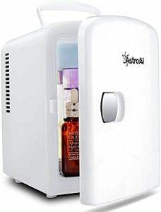 ホワイト AstroAI 冷蔵庫 小型 ミニ冷蔵庫 小型冷蔵庫 保温 冷温庫 4L 無負荷2-60°C ポータブル 化粧
