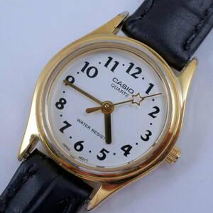 【CASIO】 稼働品 カシオ レディース 腕時計 クォーツ ゴールドケース [1330] LQ-398 #N9-305-1-342