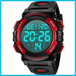 【期間限定】★色:3-レッド★ メンズ デジタル 腕時計 スポーツ MAHU 50メートル防水 おしゃれ 多機能 LED表示BXSX