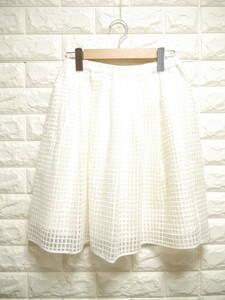 A295 ◇ BEAMS HEART | ビームスハート フレアスカート 白 中古 サイズ表記なし