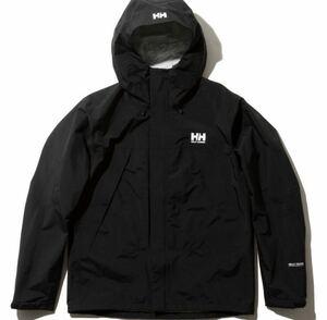 送料無料 新品 ヘリーハンセン サイズL スカンザライト ジャケット ブラック 黒 HELLY HANSEN シェル メンズ マウンテンパーカー