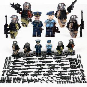 MOC LEGO レゴ ブロック 互換 ARMY ロシア軍特殊部隊 アンチテロ部隊 指揮官 カスタム ミニフィグ 6体セット 大量武器装備・兵器付き D222
