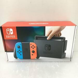 gg211 送料無料! 動作品 ニンテンドースイッチ 本体 Nintendo Switch Joy-Con(L) ネオンブルー/(R) ネオンレッド 旧モデル