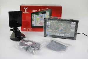 中古【Yupiteru】ユピテル 7インチ 地デジ フルセグ ワンセグ 内蔵 ポータブルカーナビゲーション YPF781 通電確認済