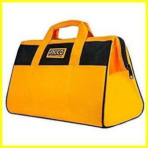 ★色:工具バッグ★ INGCO 工具バッグ 防水 ツールバッグ 工具入れ 多機能工具袋 大容量 ツールケース ペグケース 黄 黒 HTBG28131