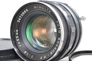 ミノルタ Minolta Auto Rokkor PF 55mm f1.8 MF #1856【付属品多数】
